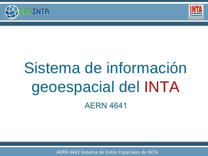 Presentación GeoINTA