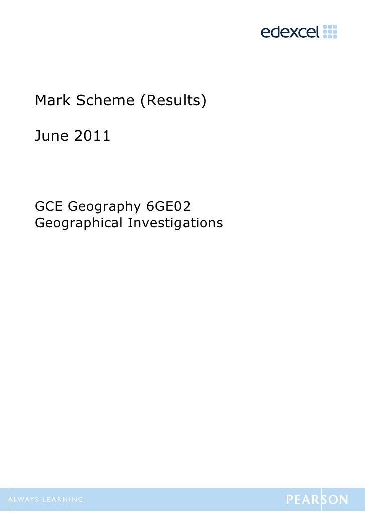 Geo invest may 2011 mark scheme