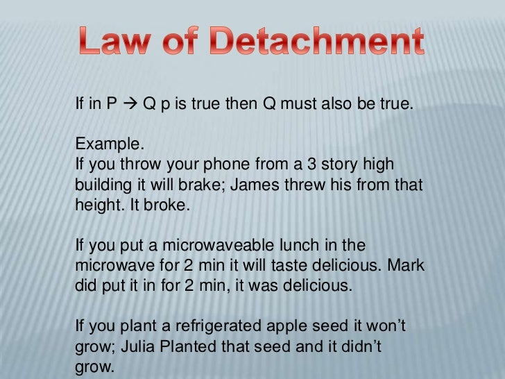 Law Of Detachment And Law Of Syllogism Z Z 2018
