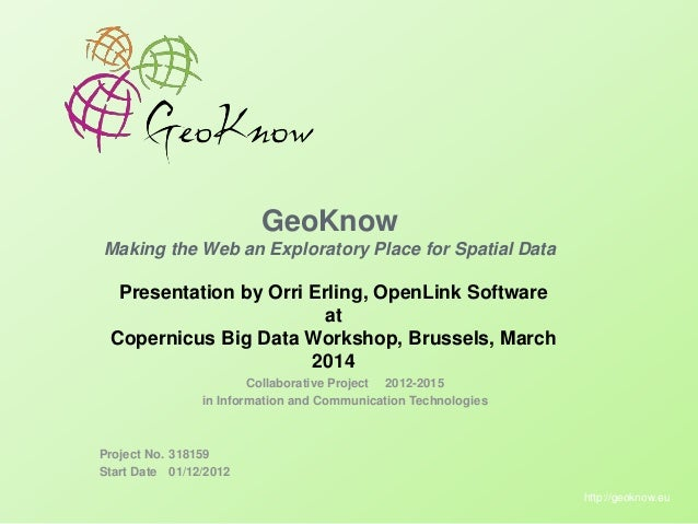 GeoKnow: Making the Web an Exploratory Place for Spatial Data