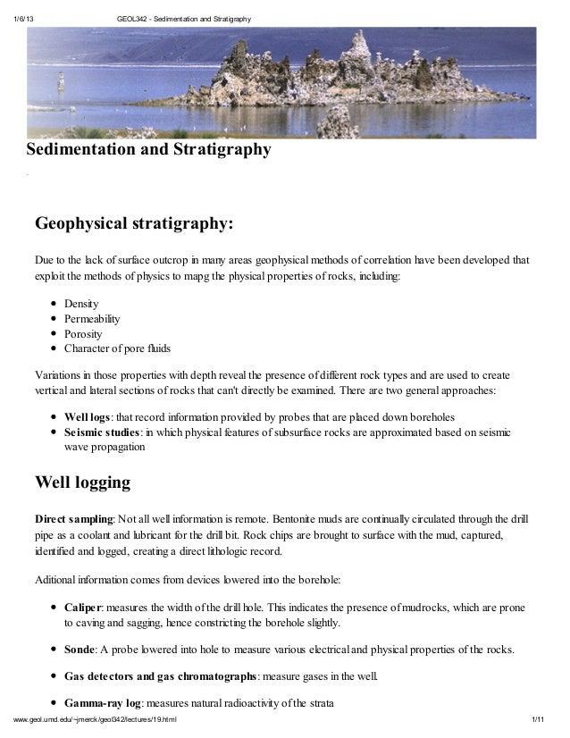 1/6/13                         GEOL342 - Sedimentation and Stratigraphy42: Sedimentation and Stratigraphy2011           Ge...