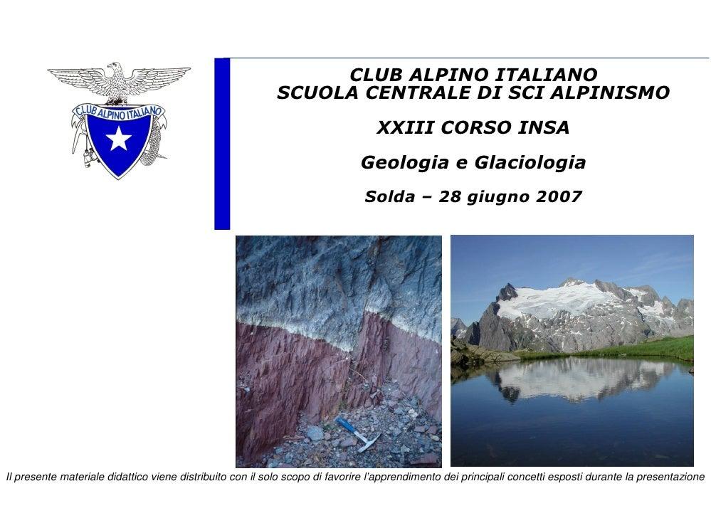Geologia  Glaciologia XXIII Insa