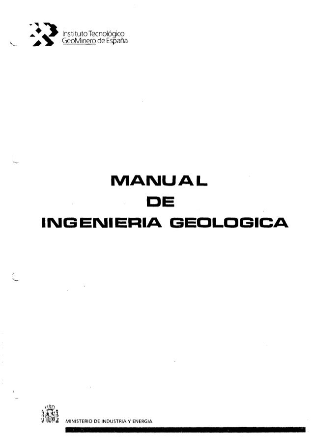 manual de ingeniería geológica