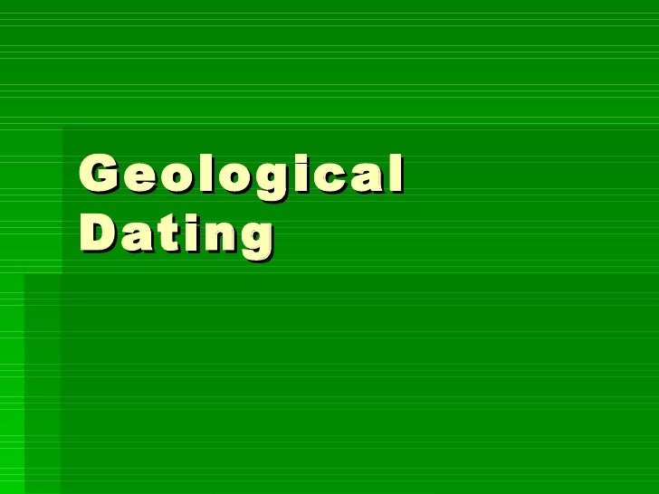 Geological Dating
