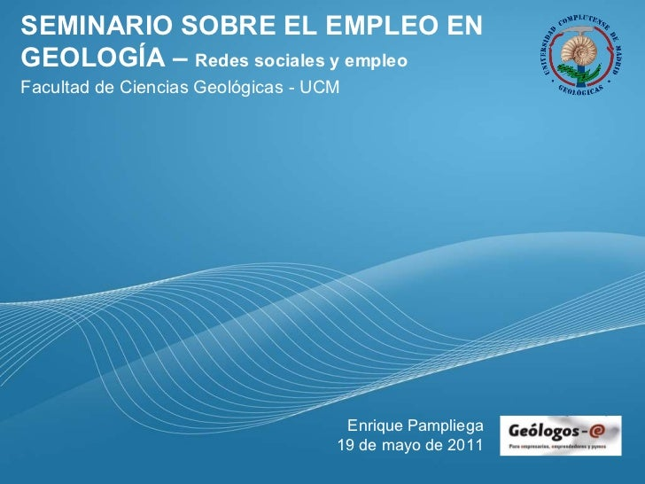 Seminario de empleo en geología - Redes Sociales