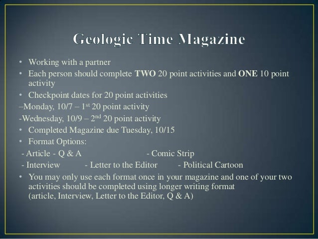 Geologic time magazine
