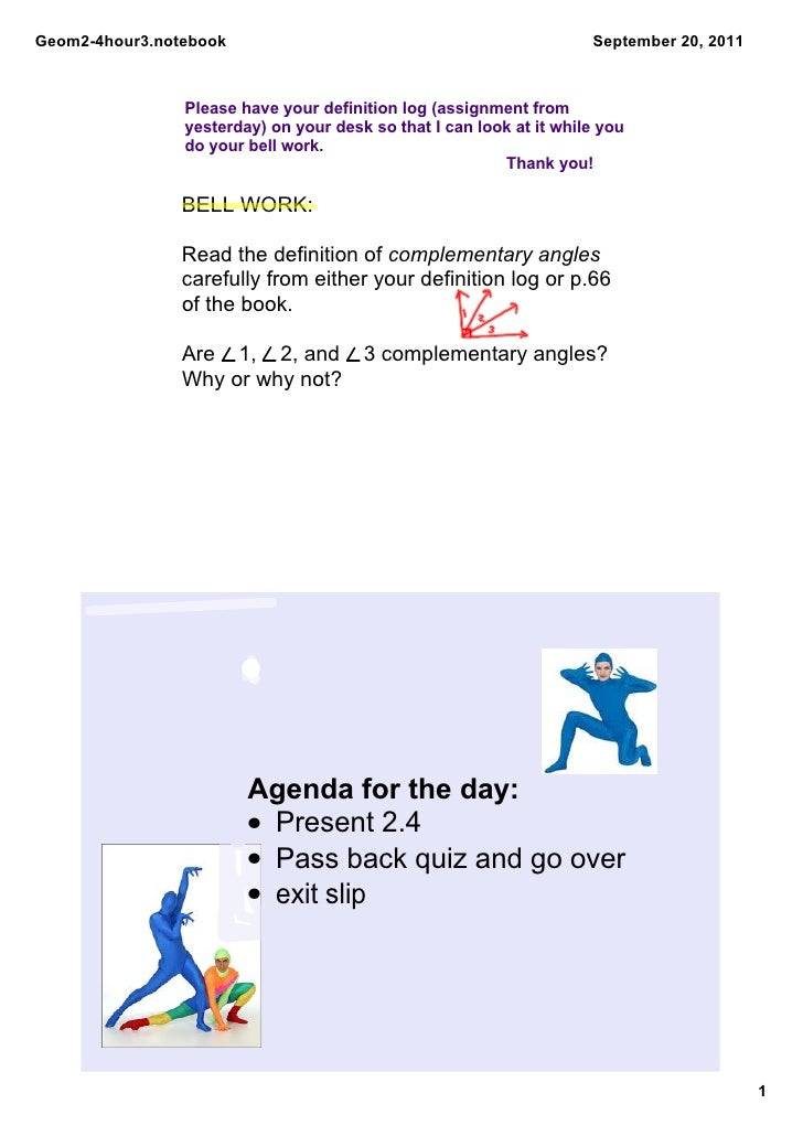 Geom2­4hour3.notebook                                                 September 20, 2011                Please have your d...