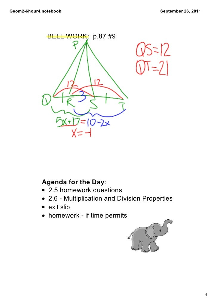 Geom26hour4.notebook                                 September26,2011               BELLWORK:p.87#9             Age...
