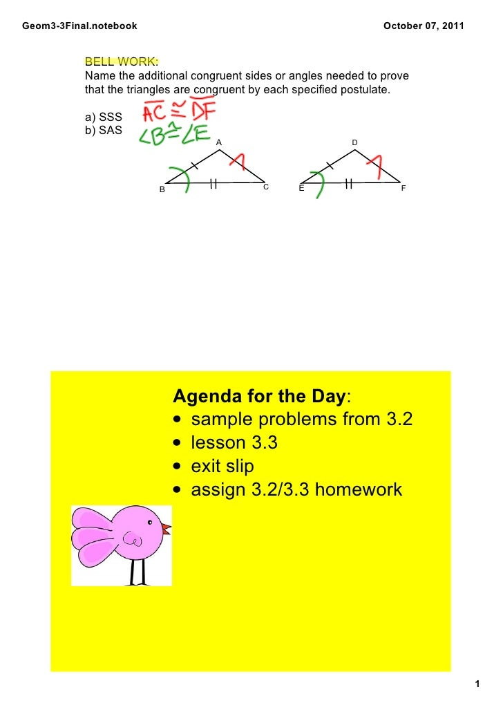 Geom3­3Final.notebook                                              October 07, 2011           BELL WORK:            Name t...