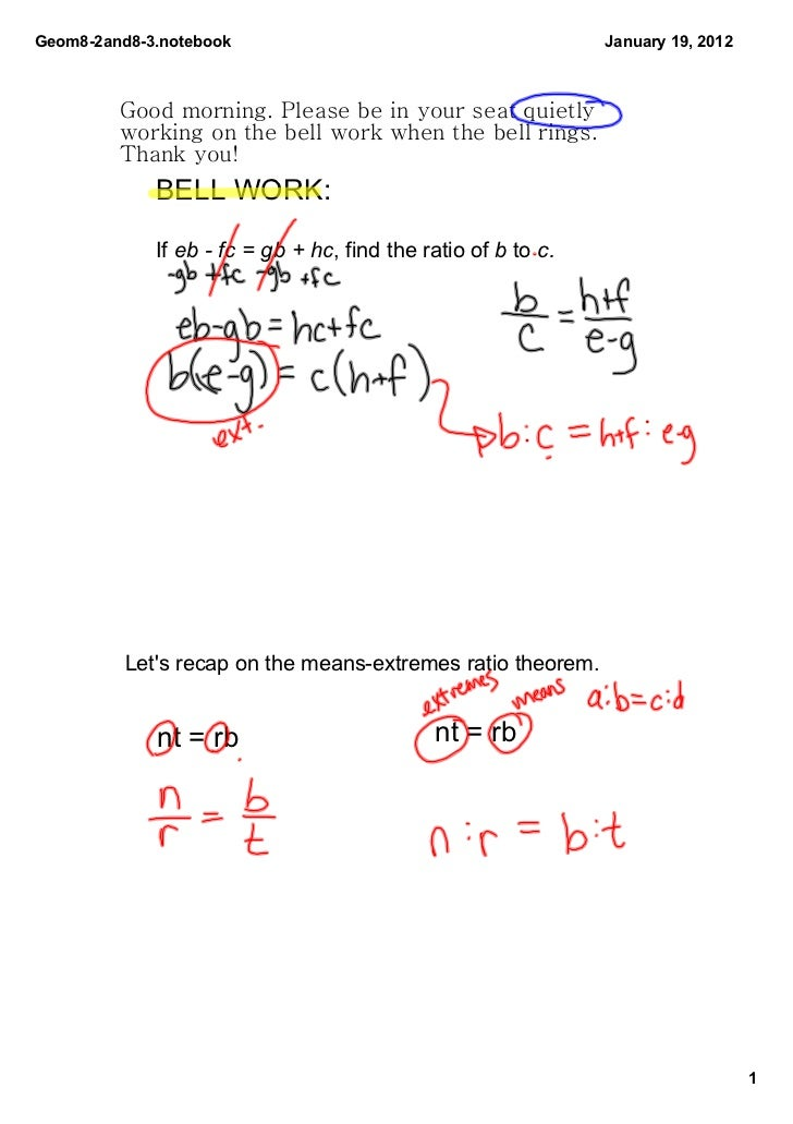 Geom82and83.notebook                                         January19,2012         Good morning. Please be in your se...