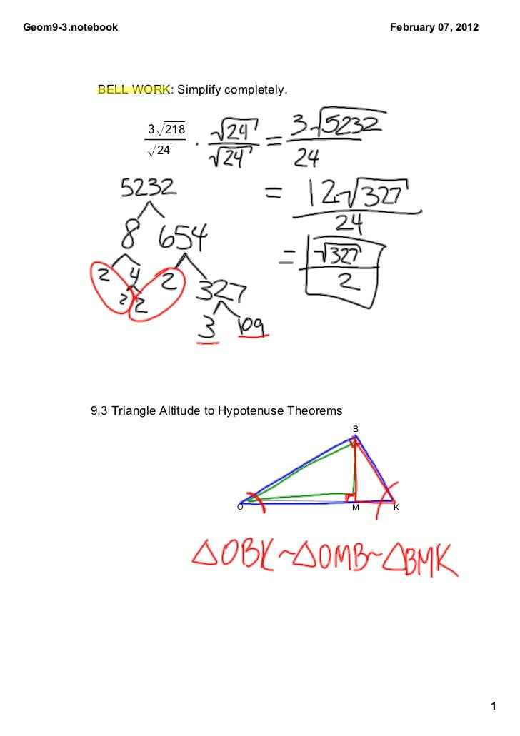 Geom93.notebook                                              February07,2012            BELLWORK:Simplifycompletely....