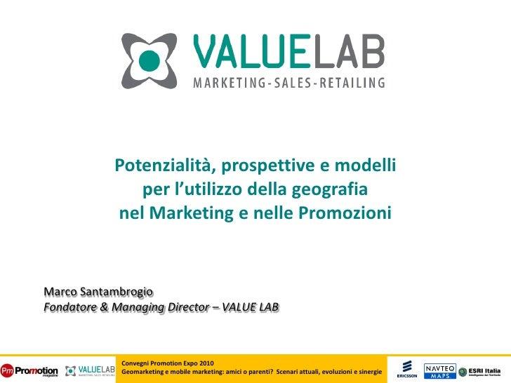 Geomarketing e Mobile Marketing: potenzialità, prospettive e modelli