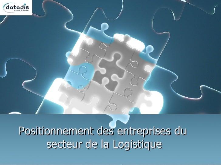 Geomarketing entreprises logistique