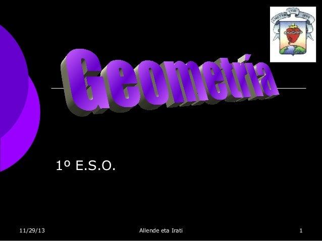 1º E.S.O.  11/29/13  Allende eta Irati  1