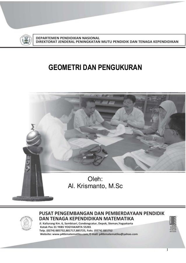 Buku paket Matematika, Geometri pengukuran SMP