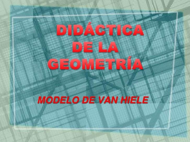 MODELO DE VAN HIELE