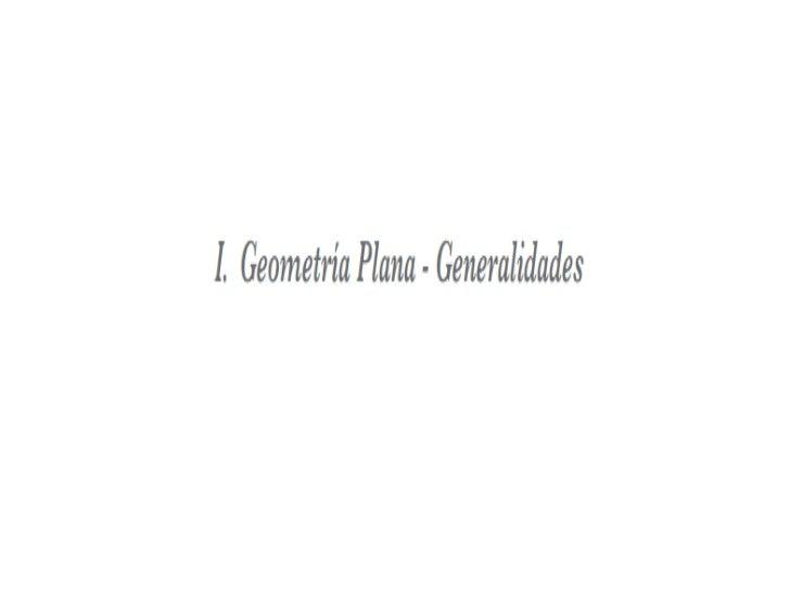 Geometria Plana Generalidades