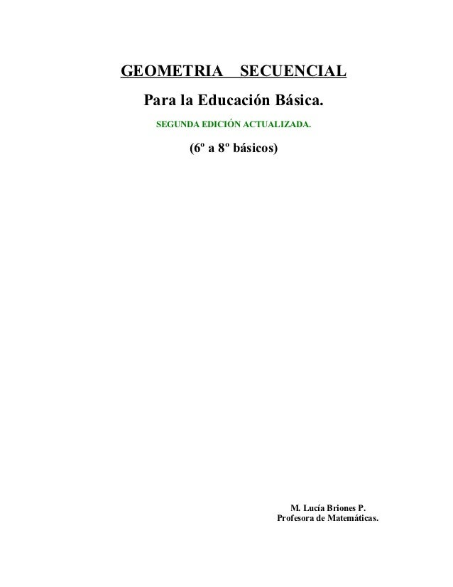 Geometria secuencial para educacion basica 2010