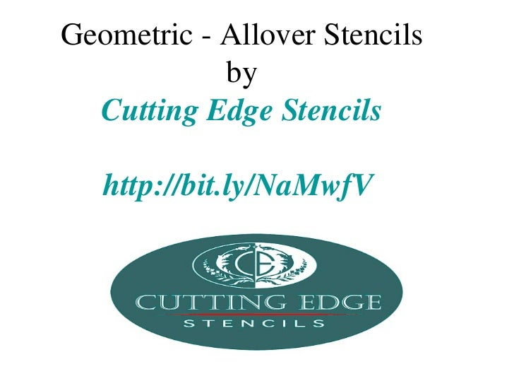 Geometric - Allover Stencils            by  Cutting Edge Stencils   http://bit.ly/NaMwfV