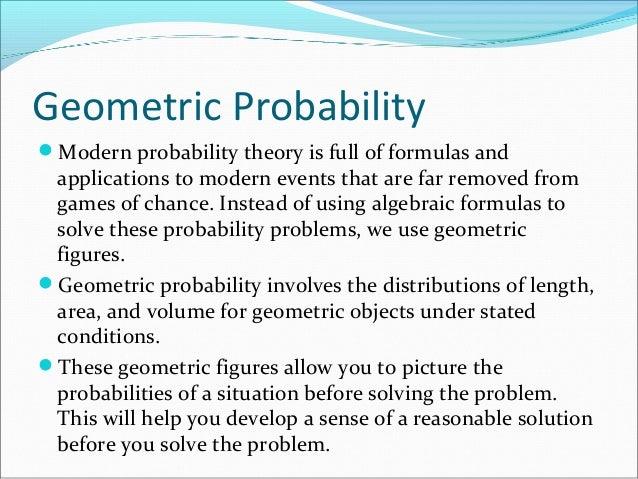 Geometric Probability Problems Geometric Probabilitymodern