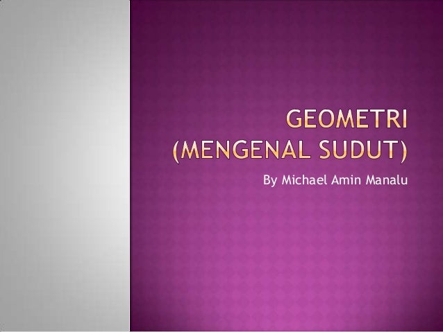 Geometri (mengenal sudut)
