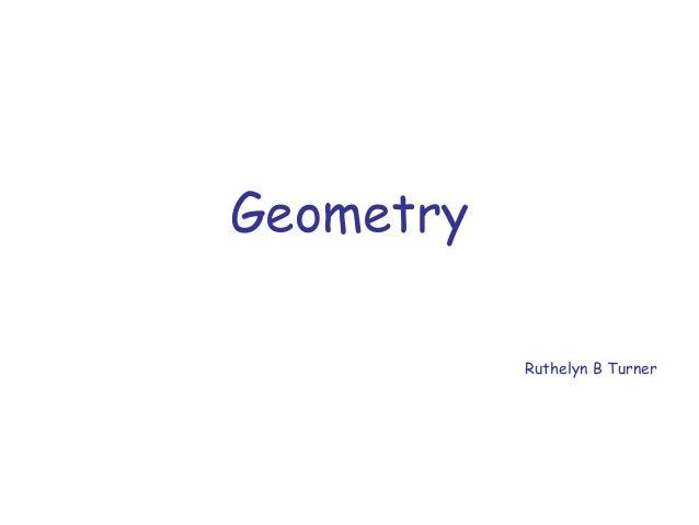 Geometry Ruthelyn B Turner