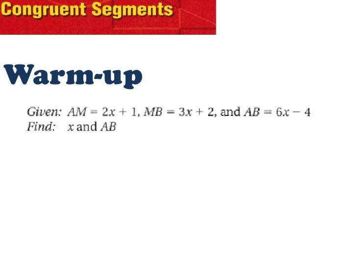 Geometry   congruent segments