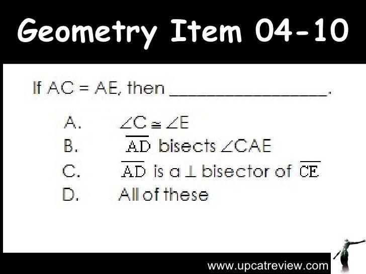 Geometry Item 04-10 www.upcatreview.com