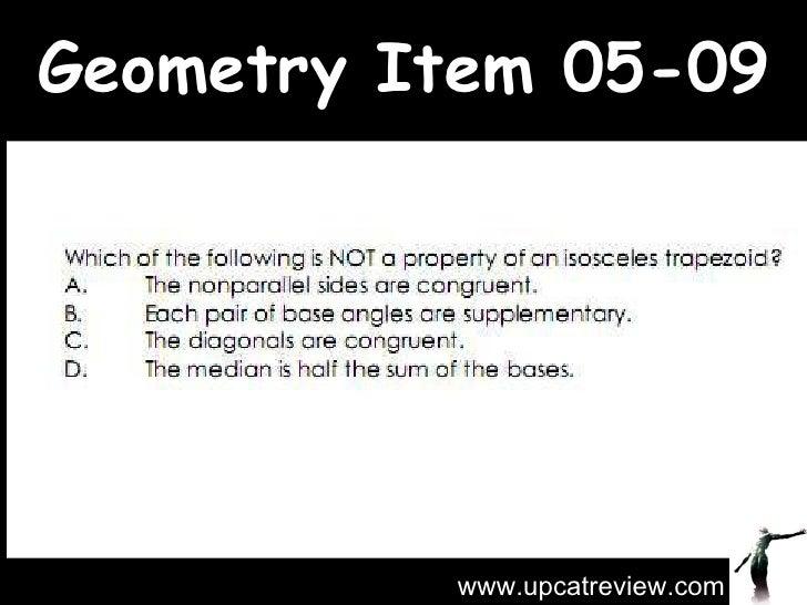 Geometry Item 05-09 www.upcatreview.com