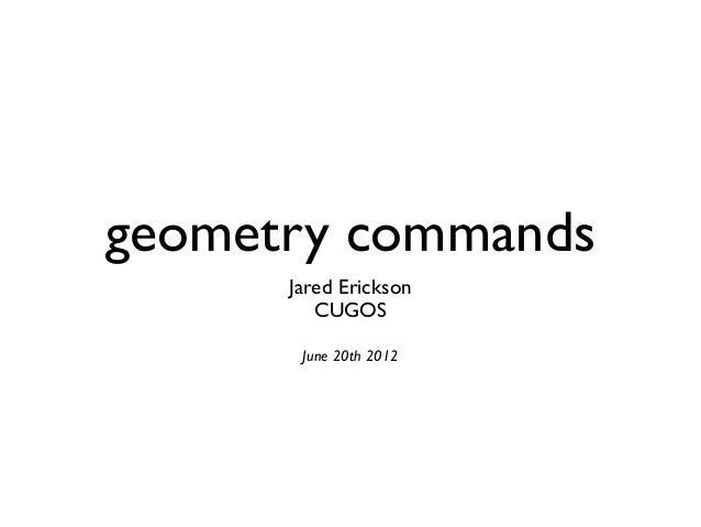 Geometry Commands