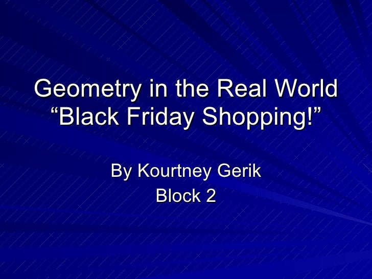 essay on use of geometry in daily life