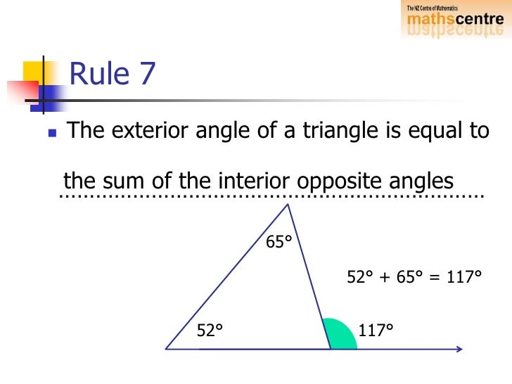 Geometry Angle Rules Images