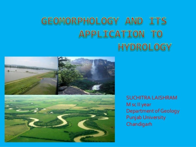 Geomorphology and its application to hydrogeology
