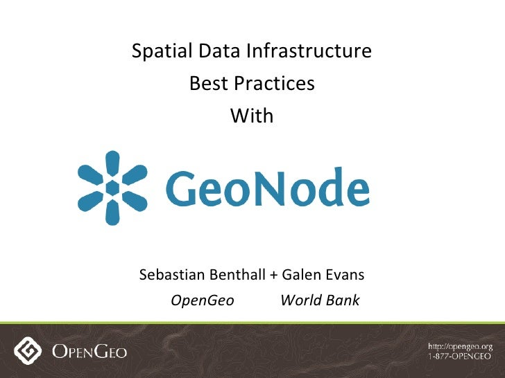 Spatial Data Infrastructure Best Practices with GeoNode