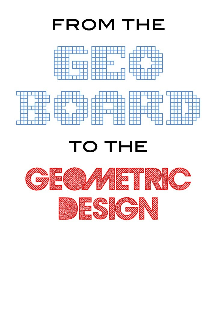 from the geoboard  to thegeometric  design