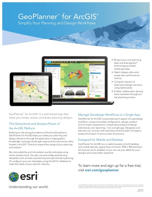 GeoPlanner SM for ArcGIS ® Simplify Your Planning and Design Workflows Copyright © 2014 Esri. All rights reserved. Esri, t...