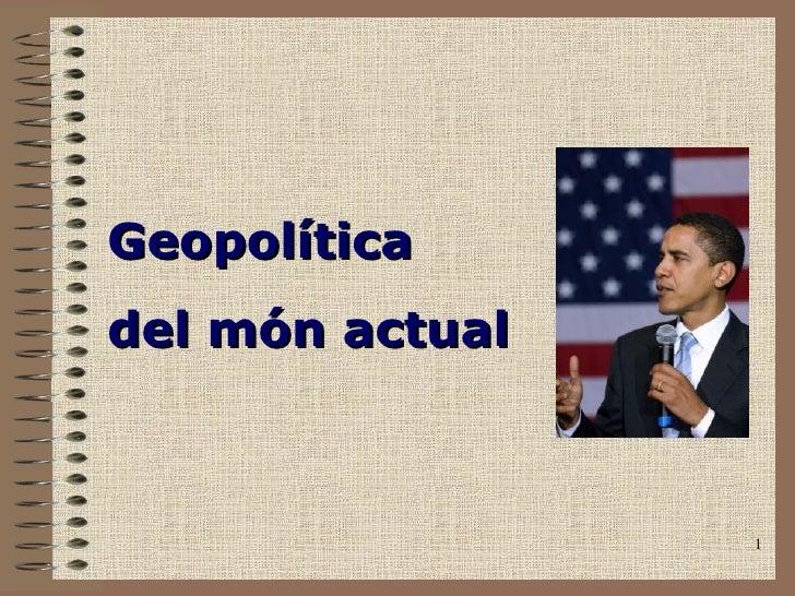 Geopolítica del món actual