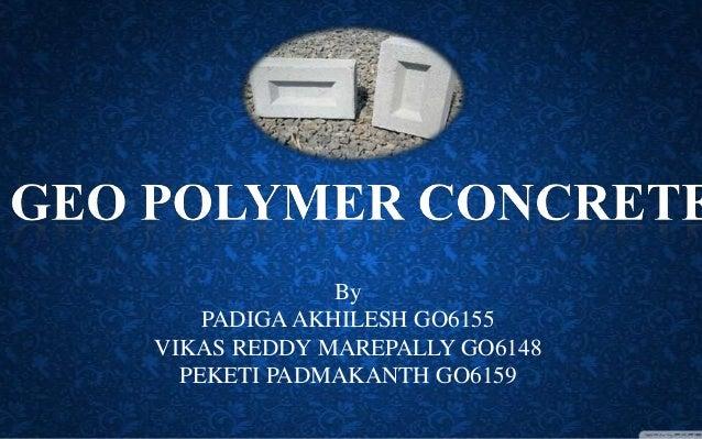 Geopolymer concrete