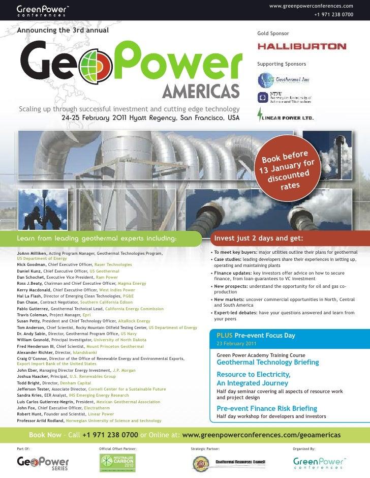 Geo Power Americas Brochure 20101712