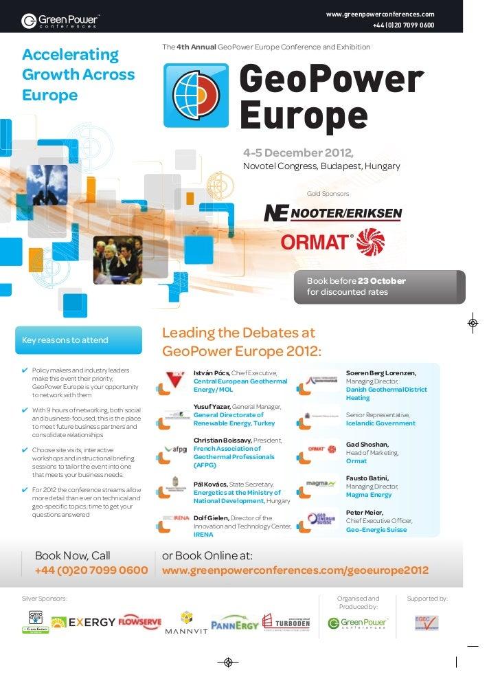 GeoPower Europe 2012