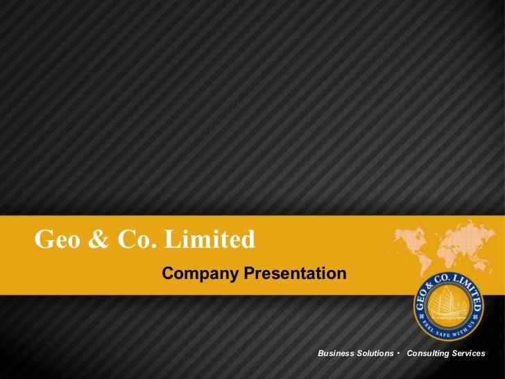 Geo & Co. Ltd. Presentation