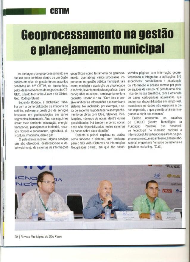 Geoprocessamento na Gestão e Planejamento municipal