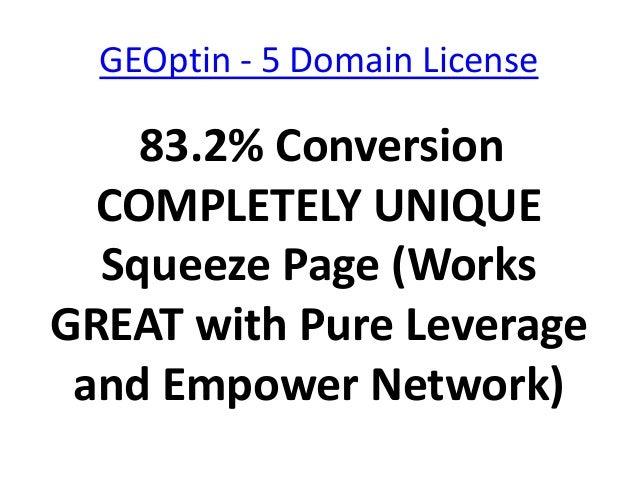 GEOptin - 5 Domain License