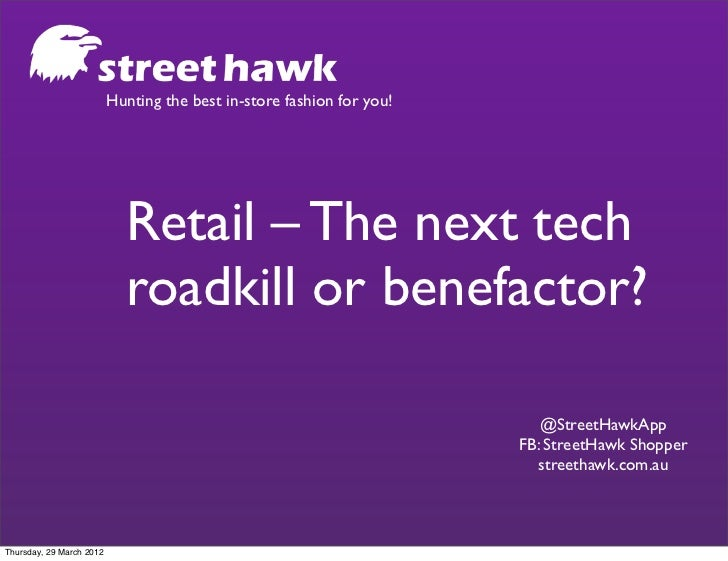 Hunting the best in-store fashion for you!                            Retail – The next tech                            ro...