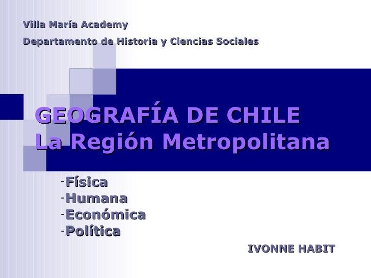 Geografia Region Metropolitana