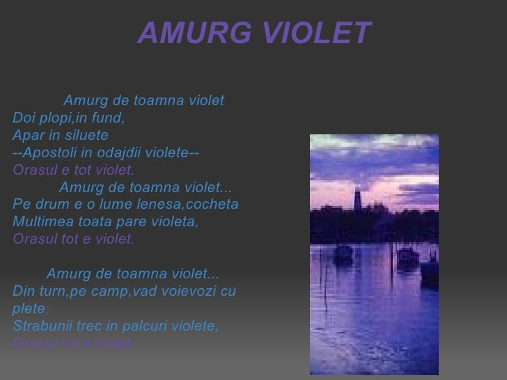 George Bacovia amurg violet