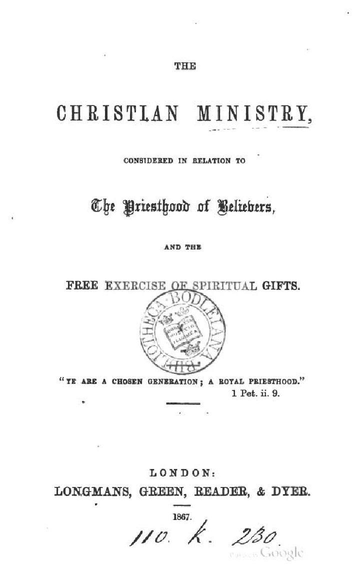 "THECHRISTIAN MINISTRY,                 CO!llIDI....D IIf u,u.nOH TO""11 .. U   .. CUolI:K 01111....710"" I .. aOTIoL J.n:mto..."
