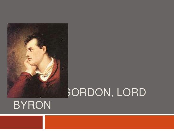 George Gordon, Lord Byron<br />