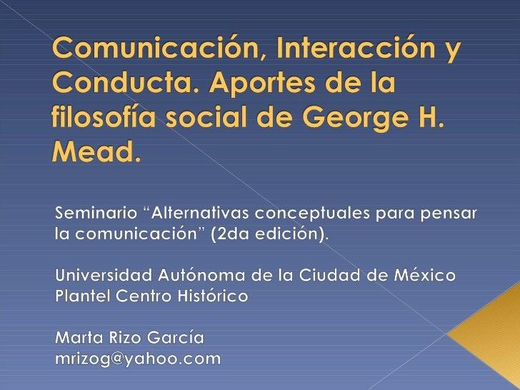 Presentación de la 9na Sesión 2da parte del seminario