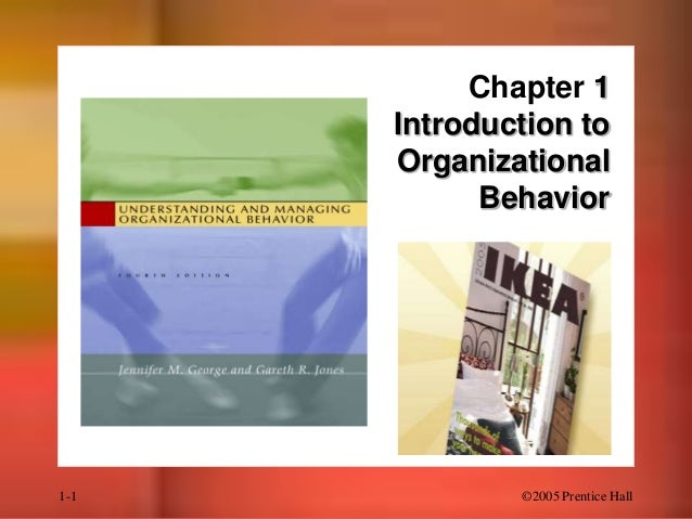 Chapter 1 Introduction to Organizational Behavior  1-1  ©2005 Prentice Hall